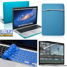 "For Apple Macbook Pro w/Retina 13.3""13inch Blue Case&Soft Bag,keyboard,Protector"