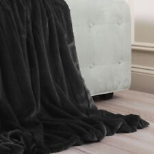 Best Home Fashion, Inc. Luxe Mink Faux Fur Throw Blanket