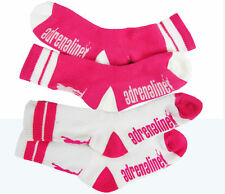 Adrenaline Athletic Socks Pink and White OSFM Lacrosse