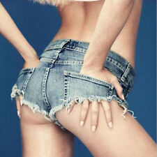 Sexy Cut Off Low Waist Women Denim Jeans Shorts Short Mini Hot Pants Chic DSUK