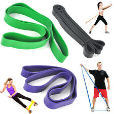 20-125lbs Yoga Resistance Bands Exercise Loop Strength Workout Fitness Training
