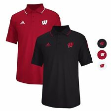 Wisconsin Badgers ADIDAS Performance Sideline Coaches Polo Shirt Men's