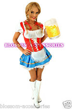 E14 Ladies Beer Maid Wench German Heidi Gretchen Oktoberfest Womens Costume