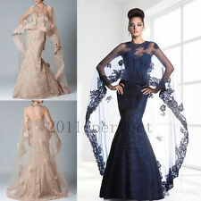 2016 Mother Of Bridal Dresses Free Capes Custom Mermaid Formal Party Mum Gowns