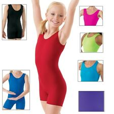 NEW Soild Color Dance Gymnastics Leotard Biketard Unitard Child & Adult Sizes