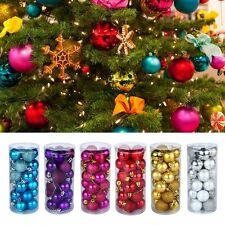 24Pcs Christmas Tree Ball Bauble Hanging Xmas Party Ornament Wedding Home Decor