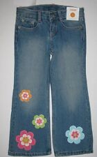 Gymboree Growing Flowers Blue Jeans Size 10 Boot cut New Denim Pants Girls Nwt