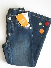 Gymboree Cozy Cutie Jeans 6 slim New Gem Dot Blue Denim Pants Girl Twin