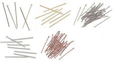 Beading Head Pins 1-inch length, 24 gauge Headpins, Choice of Finish and Count