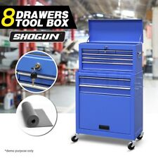 8 Drawers Tool Box Storage Mechanic Toolbox Cabinet Chest Castor Trolley Roller