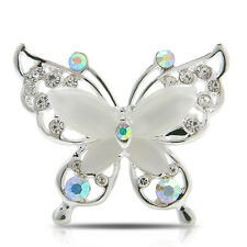 Women Jewelry Butterfly Fashion Gold/Silver Plated Crystal Rhinestone Brooch Pin