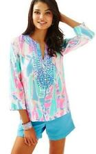 Lilly Pulitzer $168 NWT Amelia Island Out To Sea Tunic Top 100% Silk XLARGE XL