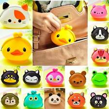 Wallet Girl Cute Cartoon Animal Silicone Jelly Coin Purse Kids Changes Small Bag