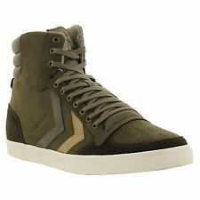 Hummel Slimmer Stadil Duo Oiled High Mens Hi Top Leather Trainers Size UK 10-13