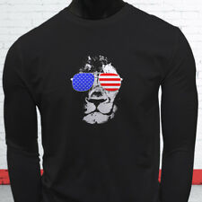 American Lion Independence Fourth Of July Top Day Mens Black Long Sleeve T-Shirt