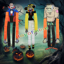 Halloween Party Decoration Funny Hanging Witch Skeleton Paper Decoration Tassel