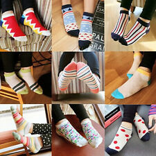5Pairs Mixed Lot Girl Mens Woman Dress Cotton Crew Ankle Socks Hosiery 100Colors