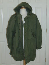 Vintage  1950's  M-1951  M51  Hooded Fishtail Parka & Liner Jacket Coat  Small