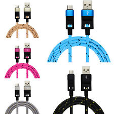 Braided Aluminum Micro USB Data&Sync Charger Cable For Samsung J1/J5/J7 2016 Lot
