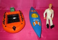 FISHER PRICE Vintage Adventure People 1970's Canoe Rescue Boat, First Aid Worker