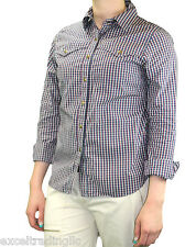 STEVEN ALAN Red, White, Blue & Green Checkered LS Nevada Top WST66CT NWT $168