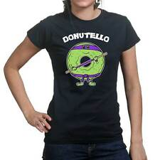 Donutello Donatello Funny Ninja Turtle Ladies T shirt Tee Top T-shirt