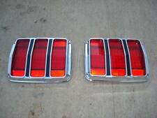1964 1/2 1965 1966 Ford Mustang LED Taillights 68 LED's With Chrome Bezels
