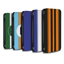 STUFF4 PU Leather Case/Cover/Wallet for Samsung Galaxy J3/Racing Car Stripes
