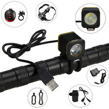 RECHARGEABLE USB 5000lm XML T6 LED BICYCLE LIGHT TORCH BIKE MOUNTAIN LAMP 4modes