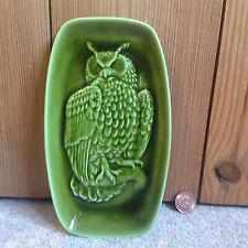 Poole Pottery Green Owl Dish 7