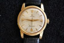 Vintage Omega Seamaster Swiss Made Gold Plated Windup Mens Watch - Working