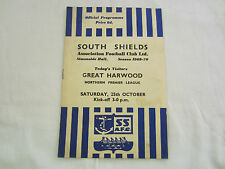 1969-70 NORTHERN PREMIER LEAGUE SOUTH SHIELDS v GREAT HARWOOD