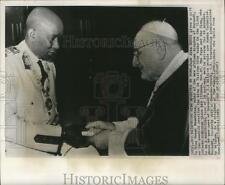 1962 Press Photo Pope John XXIII and King Mwami Mwambutsa in Vatican City