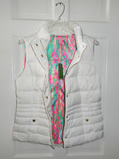 NWT LILLY PULITZER RESORT WHITE ISABELLE PUFFER VEST DOWN FEATHERS  L XL $198