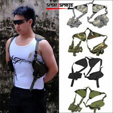 Airsoft Hunting Police Universal Left/Right Hand Pistol Pouch Shoulder Holster
