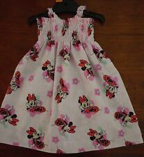 SZ 2 MINNIE & MICKEY MOUSE COTTON SHIRRED TOP DRESS ALL NEW
