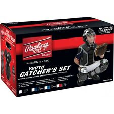 Rawlings Youth Catcher Set RCSY Box Set Helmet Chest Protector Leg Guard