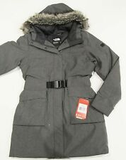 New tag Womens North Face Grey Heather Dunagiri Down Hooded Winter Jacket S M L