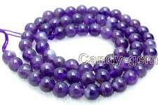 "SALE Small 6mm Round natural Amethyst gemstone beads strand 15"" -los491"