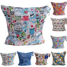 Baby Nappy Reusable Washable Wet Dry Cloth Zipper Waterproof Diaper Bag Exotic