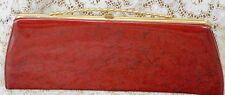 ~ VINTAGE RARE GAYMODE JAPAN PATENT LEATHER CLUTCH CANDY APPLE RED PURSE BAG ~