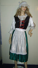 LADIES VICTORIAN TUDOR MAID SERVING WENCH PEASANT FANCY DRESS COSTUME 12-16 ***
