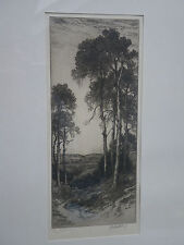 ORIGINAL 1930s JOHN FULLWOOD SIGNED ETCHING 'THE VALE OF ESHER' SURRY~LIMITED ED