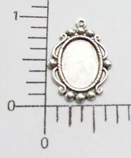 21694      4 Pc. Matte Silver Oxidized Victorian 14x10 Setting Jewelry Finding