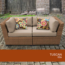 Tuscan 2 Piece Outdoor Wicker Patio Furniture Set 02a