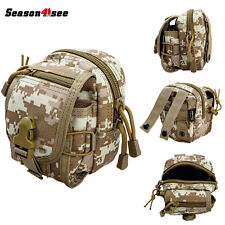 Airsoft 1000D Outdoor Waist Bag Pockets Pouch Molle 2-way Zipper Multi-purpose