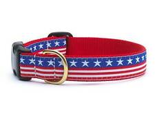 Any Size - UP COUNTRY - Made In USA - Designer Dog Collar - STARS AND STRIPES