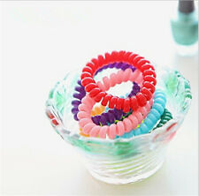 50 X  Women Hair Ring Rope Ponytail Holder Elastic Candy Telephone Line Bands