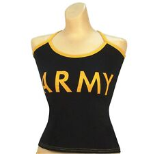 """Women's Black """"Army"""" Casual Tank Top, Camisole"""