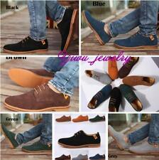 Mens Suede Leather Dress Casual Oxfords Wing Tip Lined Lace Up Flats Shoes YZ